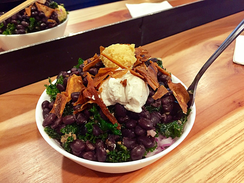 Kale, black bean bowl from Pixie Retreat in Portland, Oregon