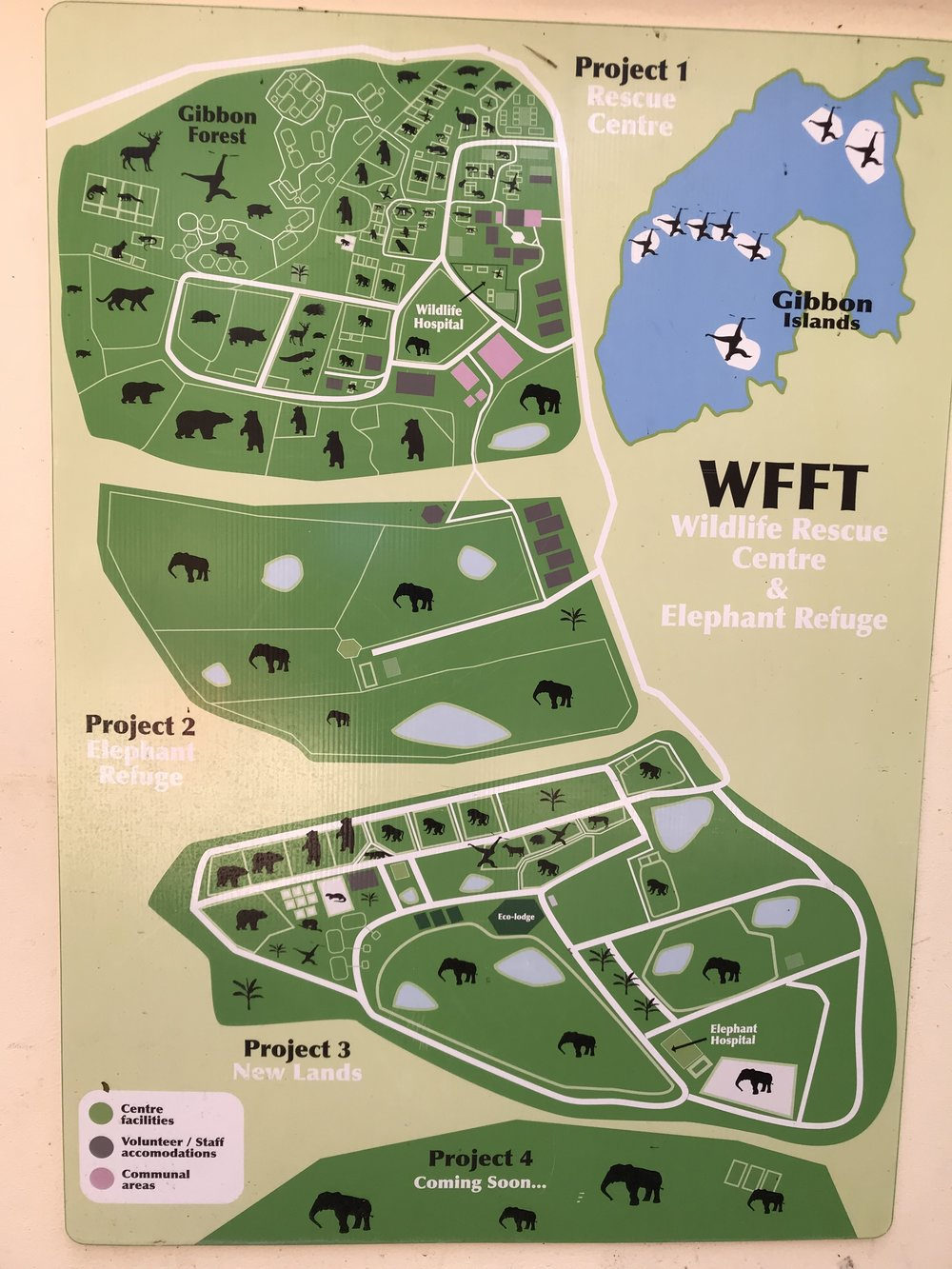 A map of Wildlife Friends Foundation Thailand