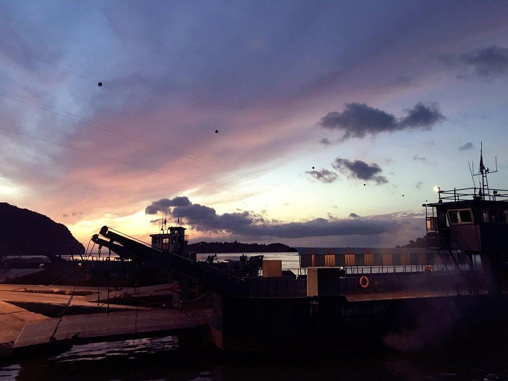 First ferry en route to Koh Lanta