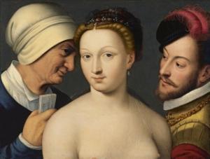 François Clouet, Carta de amor. 1570