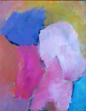 Luís Barreira, menina com chapéu azul, 1985. Acrílico s/tela 30x40 cm