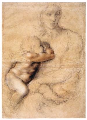 MICHELANGELO Buonarroti, desenho, 1522.