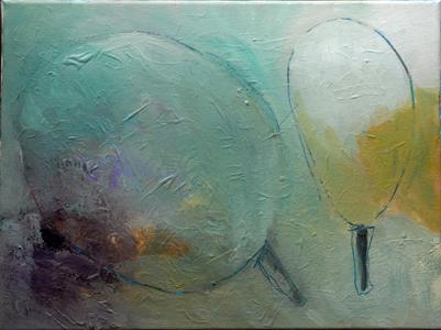 Luís Barreira  paisagem, 1991  acrílico s/tela  40x60 cm  colecção privada: Paula Teixeira
