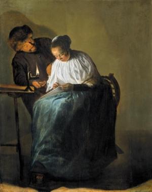 Judith Jans Leyster Homem oferece dinheiro a uma menina, 1631 the mauritshuis museum