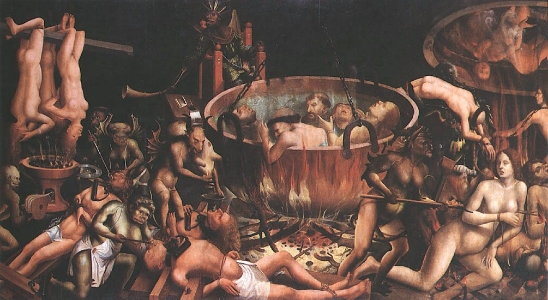anónimo, O Inferno, 1545 Óleo sobre madeira de carvalho, 119x217.5 cm. Museu Nacional de Arte Antiga, Lisboa