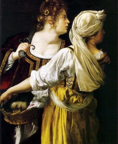 Artemisia Gentileschi (Roma, 1593 – Nápoles, 1653) Judith e a sua Serva (1613-14) Óleo s/tela Palazzo Pitti, Florence