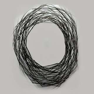 Luís Barreira Circles #07 - 1990 Desenho 60x50 cm Acrílico, grafite a/papel série: circles