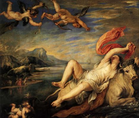 Peter Paul Rubens, Rapto de Europa, 1628/29 Museo del Prado