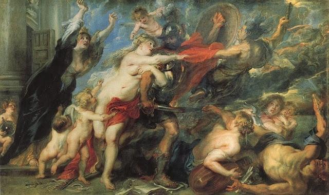 Peter Paul Rubens A Consequência da Guerra, 1637-38 Óleo s/tela 206 cm ×345 cm Palácio Pitti, Florença