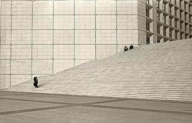 Luís Barreira La Grande Arche, Paris, 1989 Fotografia Gelatin-Silver Print