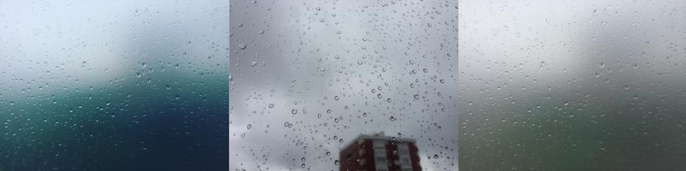 Luís Barreira Raindrops - tríptico, 2016 fotografia Digital - IPhone Série: raindrops