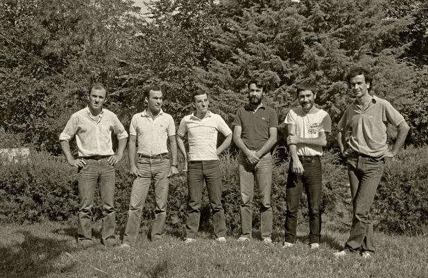 Amigos [Carlos Gonçalves, José Carvalho, António Rodrigues, Luís Barreira, Paulo Coimbra e António Barreira] Campo de Golf de Vidago, 1983