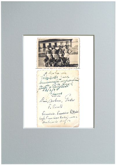 Foto: desconhecido Equipa de Voleibol, Chaves, 1948 Luís Barreira (meu pai) em pé - o terceiro da esquerda para a direita Série: ALBUM