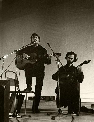 Luís Barreira Vitorino e Pedro Caldeira Cabral, ESBAL, 1983 Fotografia Gelatin Silver print arquivo:F_012_4794, 1983