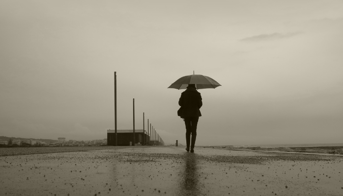 Luís Barreira  rain day - Costa de Caparica, 2014  Fotografia