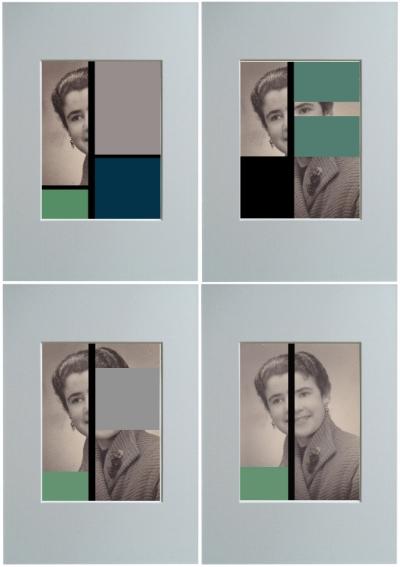 Luís Barreira  Lurdes Carvalho portraits (painel), 2002  Fotografia/colagens