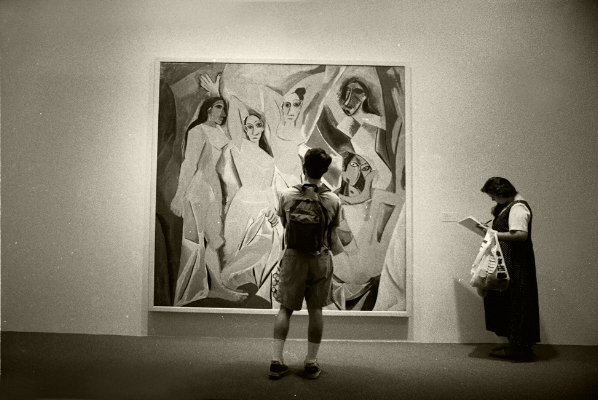 Luís Barreira New York, 1994 Pablo Picasso,Les demoiselles d'Avignon, 1907 MoMA -Museum of Modern Art Fotografia Gelatin Silver print