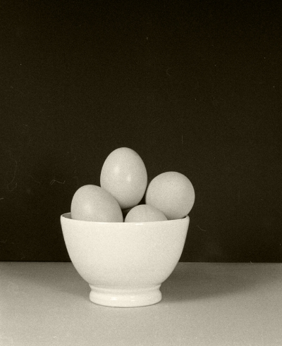 Luís Barreira  Large (L) eggs, 1985  Fotografia  Gelatin Silver print  Série:   still life