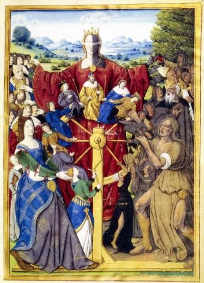 Roda da Fortuna (pintura francesa, 1503 - Bibliotheque Nationale)