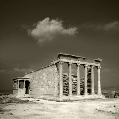 Luís Barreira  Templo do Erecteion  Partenon, Atenas, 1984  Fotografia  Diapositivo digitalizado