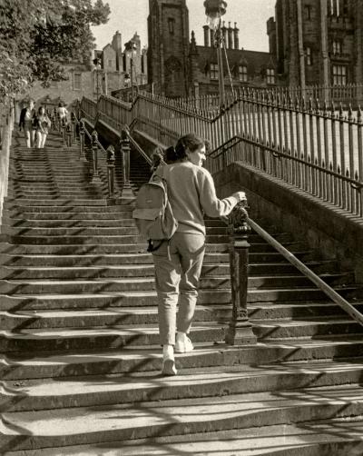 Luís Barreira  Edimburgo, 1987  Fotografia  Gelatin Silver print  série:   street photography    arquivo: F_030-4596, 1987