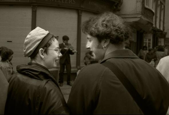Luís Barreira  York, 1987  Fotografia  Gelatin SIlver print  serie: street photography  arquivo:F_036_4963, 1987