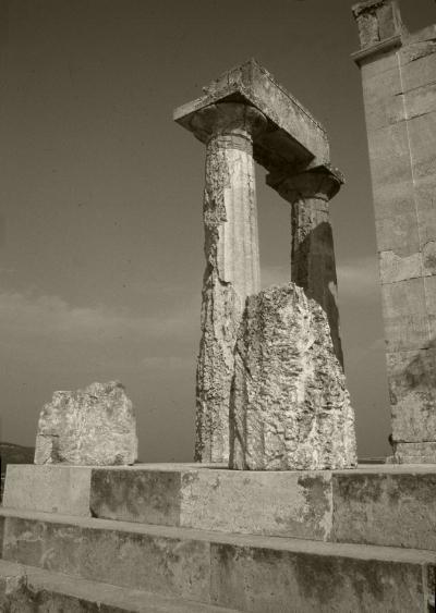 Luís Barreira  Templo de Afaia - Egina  Grécia, 1984  Fotografia/Diapositivo  arquivo:SLIDE_Grecia_1360, 1984