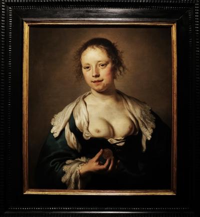 Jacob Adriaensz Backer (1608-1651)  Cortesã, c. 1640  Óleo s/tela  Colecção do  Museu Nacional de Arte Antiga