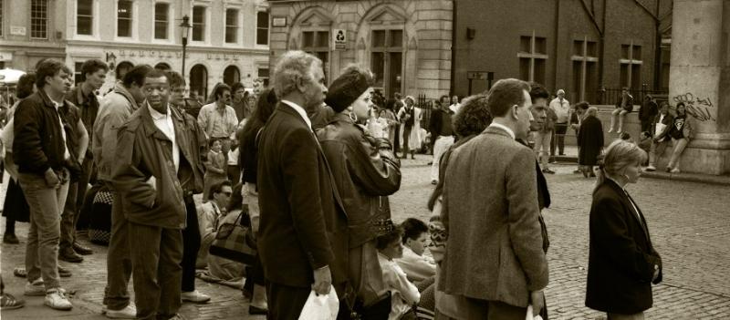 Luís Barreira  London' 87  Fotografia  Gelatin Silver print  série:   street photography    arquivo:F_034_4893, 1987