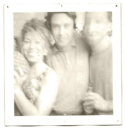 Bela Silva, Luís Barreira e António Poppe  Chicago, 1994  Polaroid