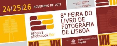 8ª Feira do Livro de Fotografia de Lisboa,  24/25/26 de Novembro de 2017  Abertura:   Sexta-feira, 24 de Novembro às 17:00 até às 21:00 horas      Sábado, 25 de Novembro das 14:00 às 21:00 horas      Domingo, 26 de Novembro das 14:00 às 20:00 horas    Arquivo Municipal de Lisboa