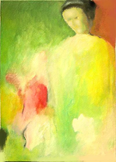 Luís Barreira   pomo , 1983  acrílico s/tela  40x60 cm  colecção privada: Graça Figueiredo