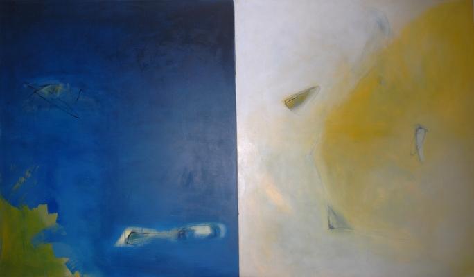 Luís Barreira  Queda do Mito, 1988  Díptico  320x185 cm  acrílico s/tela  Pintura
