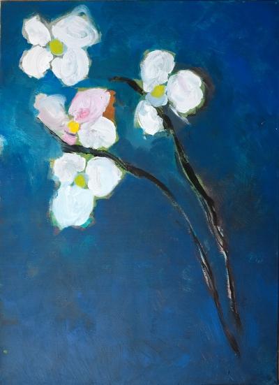 Luís Barreira  Flowers, 1983  Pintura  acrílico, S/tela  70x50 cm  Colecção particular: Graça Figueiredo