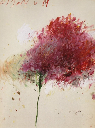 Cy Twombly, Proteus, 1984   Acrylic paint, color pencil, pencil on paper   Arte