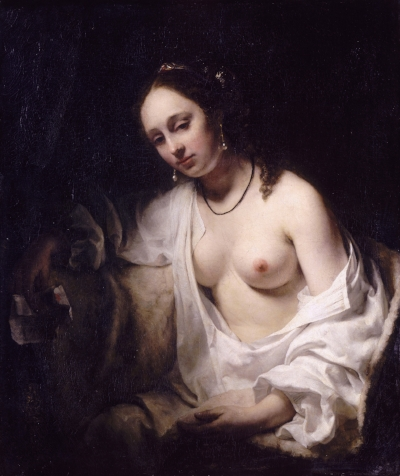 Bathsheba holding king David's letter  by Willem Drost, 1654.  Louvre Museum