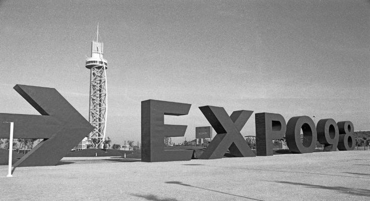 Luís Barreira  Expo'98  Lisboa, 1998  série: no parque  Fotografia  arquivo:FOLIO_365_8246, 1998