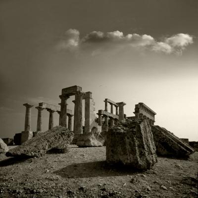 Luís Barreira  Templo de Egina, 1984  Grécia  série: antiguidade clássica  Fotografia  arquivo:SLIDE_1362, 1984