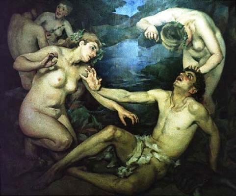 Apolo e as Musas,  1934  Abel Manta  século XX  óleo sobre tela  Faculdade de Belas Artes, Lisboa