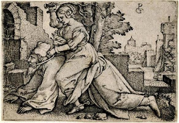 George Pencz, Aristóteles e Fyllis. 1530