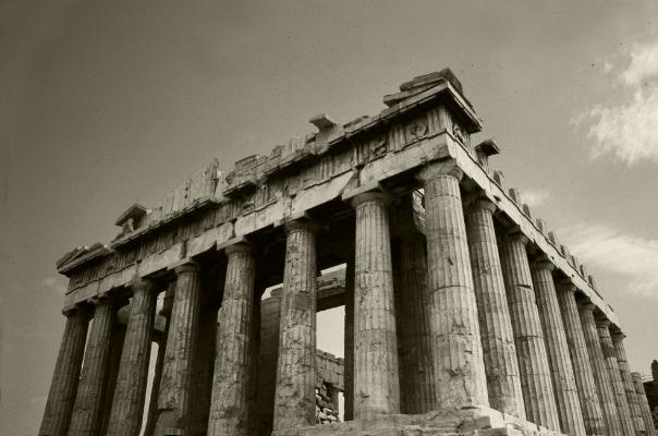 Luís Barreira  Parténon, 1984  Grécia  série: antiguidade clássica  Fotografia  arquivo:1984_SLIDE_Grecia_1319