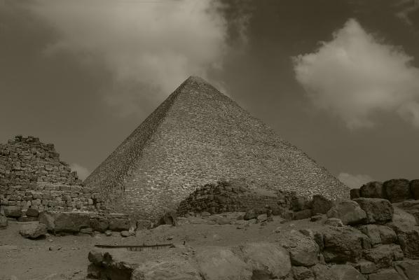 Luís Barreira  Pirâmide de Quéops, 2018  série: Egipto  Fotografia  arquivo:2018_07_12_DSCF8368