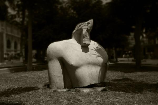 Luís Barreira  Torso egípcio, 2018  Museu do Cairo  série: Egipto  Fotografia  arquivo:2018_07_12_DSCF8526