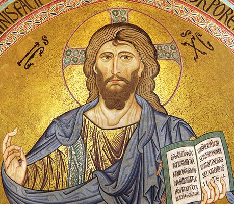 Cristo Pantocrator, Catedral de Cefalú ,  Sicília (séc. XII)  IC XC – Jesus Cristo