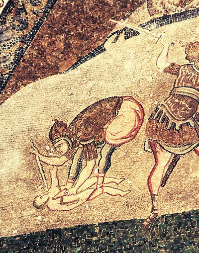 Mosaico: Massacre dos Inocentes, na Igreja de São Salvador em Chora, considerada um dos mais belos exemplos das igrejas bizantinas.