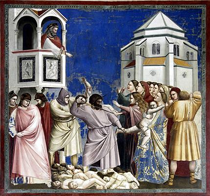 Massacre dos Innocentes, fresco de Giotto di Bondone na Capela  Scrovegni de Pádua, 1304-1306