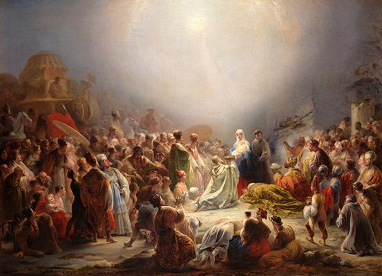 Domingos Sequeira, A Adoração dos Magos, 1828  Créditos:  Museu Nacional de Arte Antiga
