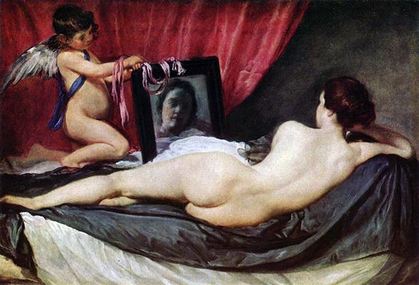 Diego Velázquez,  Vénus ao espelho , 1647-51  Dimensões: 142x177 cm  National Gallery, Londres