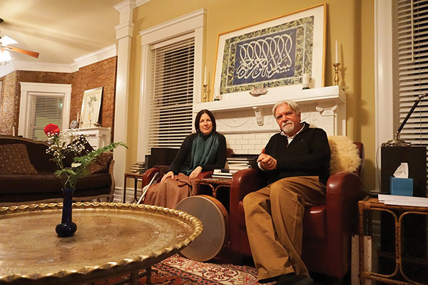 Sheikh Kabir Helminski, Sheikha Camille Helminski in the Louisville Center of the Threshold Society.
