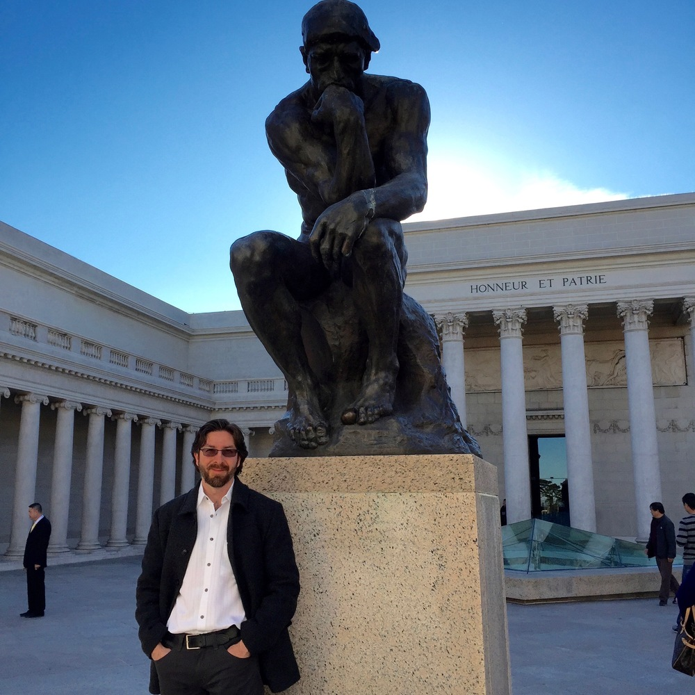 Netanel Miles-Yépez at the California Legion of Honor in San Francisco, CA. Photo by Jennifer Alia Wittman, 2015.